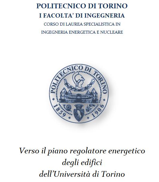 Verso il piano regolatore energetico degli edifici dell for Piano di progettazione di edifici commerciali